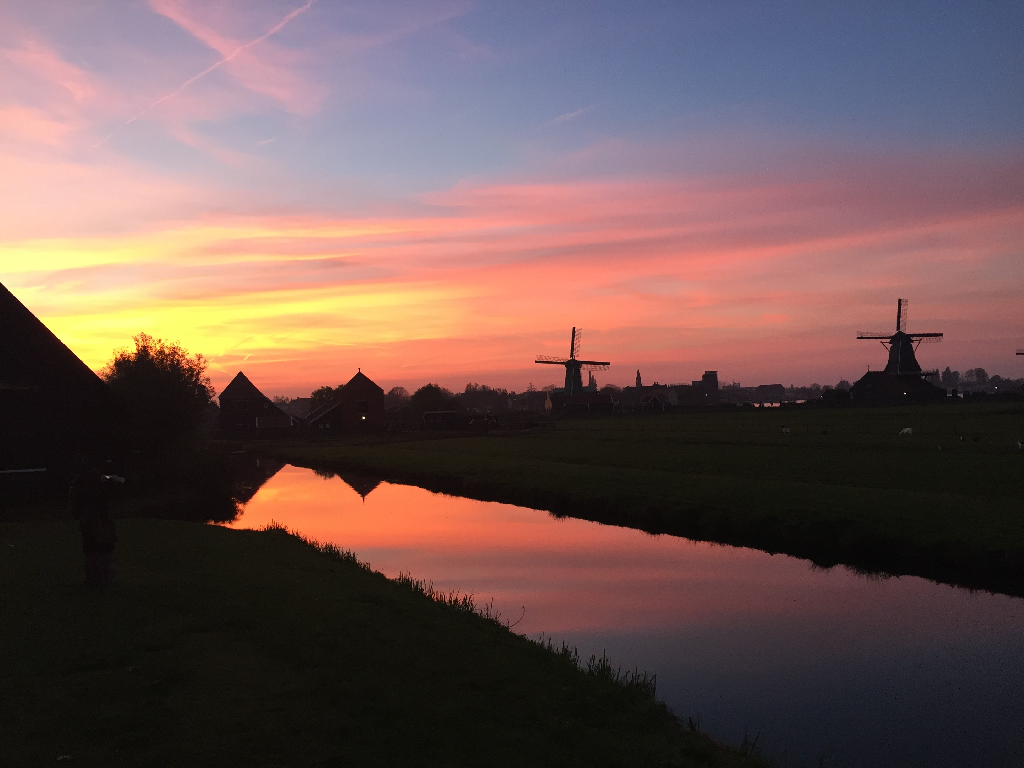 Sunset at Zaanse Schans